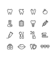 Dental Tooth Doctor Icon Set vector image