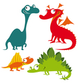 dino animals vector image