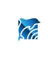 dolphin logo dolphin jumping symbol icon vector image vector image