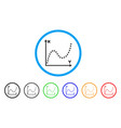 dotted plot rounded icon vector image vector image