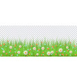 easter background with eggs flowers grass vector image vector image