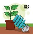 Eco lifestyle bulb light pot plant energy symbol