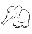 elephant black and white vector image