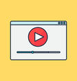 form of watching online video vector image