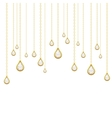 golden drops with brilliants vector image vector image