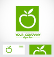 Green apple organic logo vector image vector image