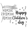 hand draw children day style collection vector image vector image