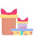 icons of gift boxes vector image