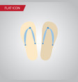 isolated flip flop flat icon beach sandals vector image