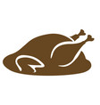isolated roast turkey vector image