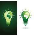 light bulb earth vector image vector image