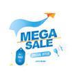 mega sale banner template design loudspeaker and vector image vector image