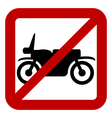 No motorcycle sign vector image