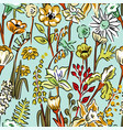 pattern wild flowers vector image