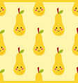 pear fruit badge isolated vector image vector image