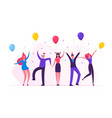 people celebrating new year party with champagne vector image vector image