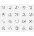 Pets sketch icon set vector image vector image