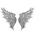phoenix bird wings vector image