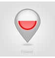 Poland flag pin map icon vector image vector image
