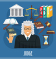 poster of judge profession or advocacy vector image vector image