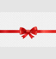 red ribbon on transparent background vector image vector image