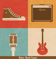 Retro rock icons vector | Price: 1 Credit (USD $1)
