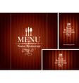 set design Restaurant vector image vector image