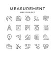 Set line icons measurement