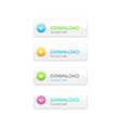 set of rectangle download buttons vector image