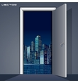 Skyline over Door vector image