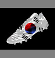 soccer football boot with the flag of south korea vector image