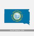 south dakota usa map flag vector image vector image