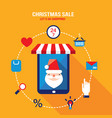 tablet with santa claus on the screen and vector image vector image