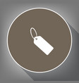 tag sign white icon on brown vector image vector image