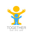 together love care logo vector image vector image