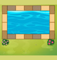 top view of swimming pool in park vector image