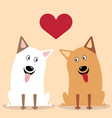 two dogs flat icon vector image vector image