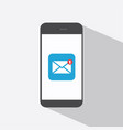 unread email notification on mobile vector image vector image