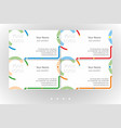 vivid business card templates set vector image