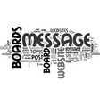 why do some websites have message boards text vector image vector image