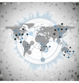world map for communication vector image
