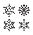 snowflake simple icon isolated on white background vector image