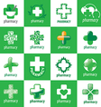 biggest collection of logos for medicine vector image