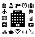 Hotel and travel icon set vector image