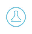 chemical flask blue round icon vector image