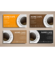 Template coffee club cards with hand drawings and vector image