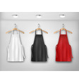 a white red and black aprons mockup aprons