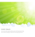 Abstract Natural Sunshine and Cloud Background vector image