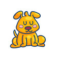 adorable little cartoon puppy vector image vector image