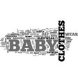 baby clothes daywear nightwear and special text vector image vector image